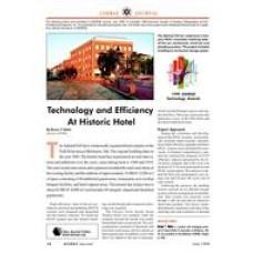 1999 ASHRAE Technology Awards: Technology and Efficiency at Historic Hotel