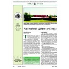 1998 ASHRAE Technology Awards: Geothermal System for School