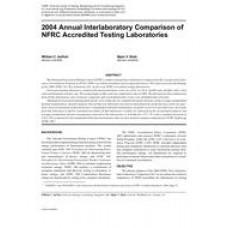 2004 Annual Interlaboratory Comparison of NFRC Accredited Testing Laboratories