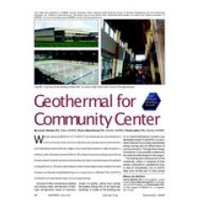 2009 ASHRAE Technology Awards: Geothermal for Community Center