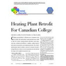 2005 ASHRAE Technology Awards: HVAC Retrofit: Heating Plant Retrofit For Canadian College
