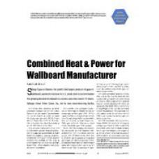 2005 ASHRAE Technology Awards: Combined Heat & Power for Wallboard Manufacturer