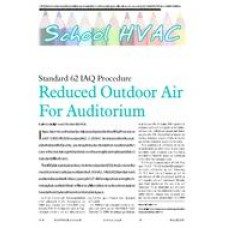 2006 ASHRAE Technology Awards: Reduced Outdoor Air For Auditorium