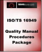 TS 16949 Quality Manual and Procedures
