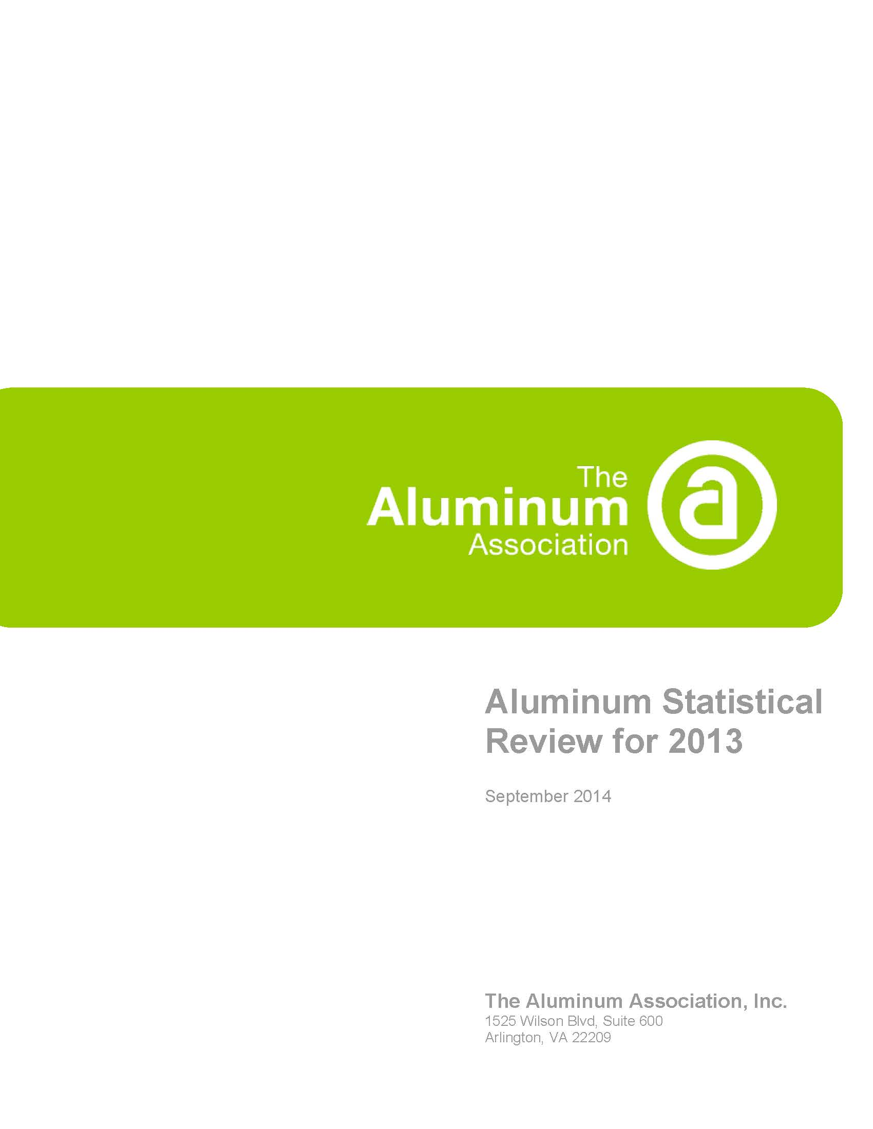 Aluminum Statistical Review for 2013