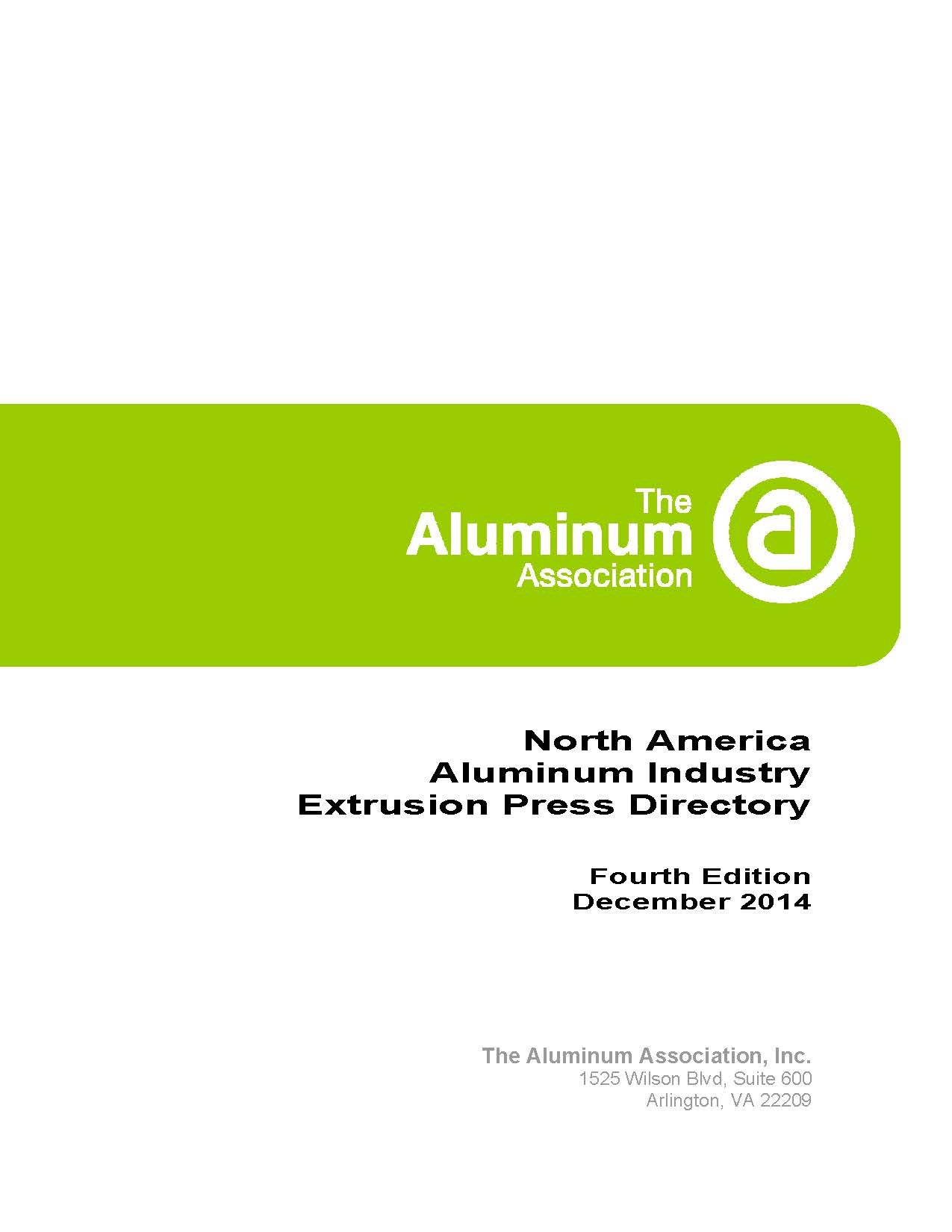 North America Aluminum Industry Extrusion Press Directory