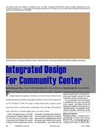 2008 ASHRAE Technology Award Winner: Integrated Design for Community Center