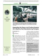 1997 ASHRAE Technology Awards: Upgrading the Steam and Cooling Systems at a Machine Tool Manufacturing Complex