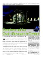 2009 ASHRAE Technology Awards: Geothermal for Grain Research Center