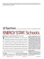 13 Tips From ENERGY STAR® Schools: How Some Schools in Indiana Earn ENERGY STAR