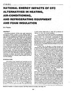 AT-90-25-3 -- National Energy Impacts of CFC Alternatives in Heating, Air Conditioning and Refrigerating Equipment and Foam Insulation