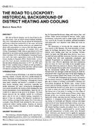 CH-95-10-1 -- The Road to Lockport - Historical Background of District Heating and Cooling