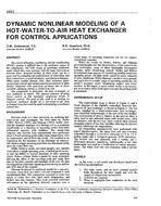 3452 -- Dynamic Non-Linear Modeling of a Hot-Water-to-Air Heat Exchanger for Control Applications