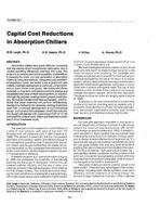 CH-89-15-1 -- Capital Cost Reductions in Absorption Chillers