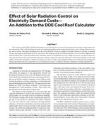 Effect of Solar Radiation Control on Electricity Demand Costs—An Addition to the DOE Cool Roof Calculator