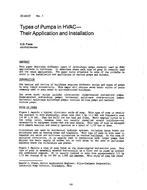 DC-83-07-1 -- Types of Pumps in HVAC--Their Application and Installation